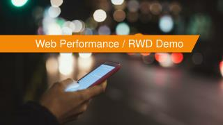 Web Performance / RWD Demo