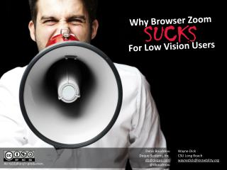 Why Browser Zoom For Low Vision Users