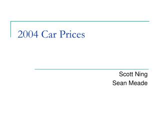 2004 Car Prices