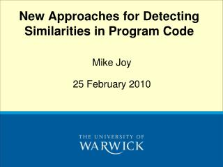 New Approaches for Detecting Similarities in Program Code