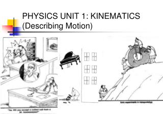 PHYSICS UNIT 1: KINEMATICS (Describing Motion)