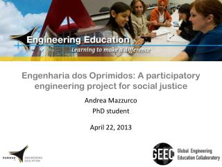 Engenharia dos Oprimidos: A participatory engineering project for social justice