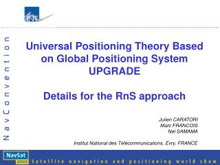 Universal Positioning Theory Based on Global Positioning System UPGRADE