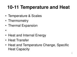 10-11 Temperature and Heat