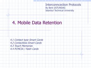 4. Mobile Data Retention