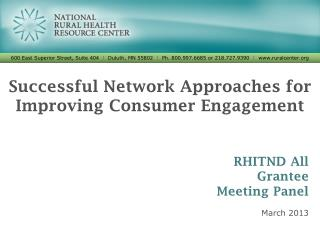 Successful Network Approaches for Improving Consumer Engagement