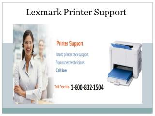 Lexmark Printer Support 1-800-832-1504 | Technical Support