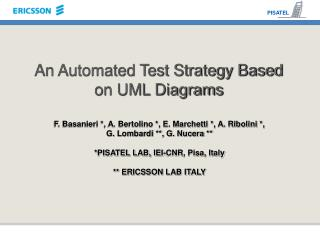 An Automated Test Strategy Based on UML Diagrams