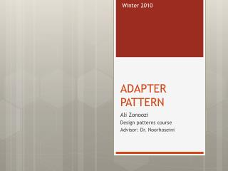 ADAPTER PATTERN