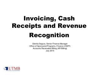 Invoicing, Cash Receipts and Revenue Recognition