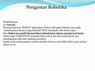 Pengantar Robotika
