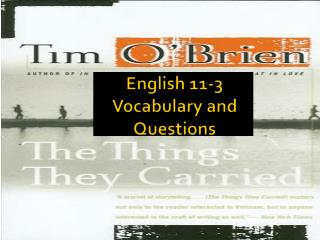 English 11-3 Vocabulary and Questions