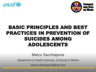 basic principles and best practices in prevention of suicides  among adolescents