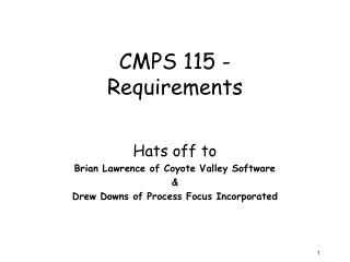 CMPS 115 -  Requirements