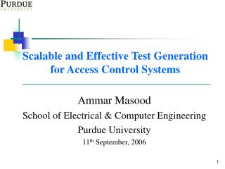 Scalable and Effective Test Generation for Access Control Systems