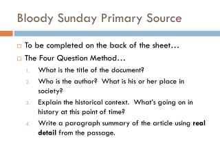 Bloody Sunday Primary Source