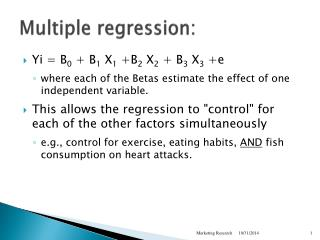 Multiple regression: