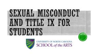 Sexual Misconduct and Title IX for Students