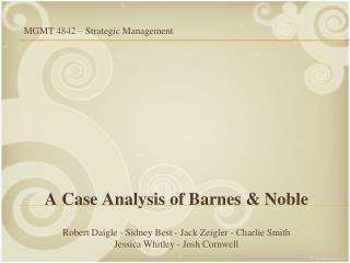 A Case Analysis of Barnes & Noble