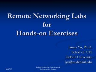 Remote Networking Labs for Hands-on Exercises