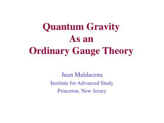 Quantum Gravity As an Ordinary Gauge Theory