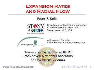Expansion Rates  and Radial Flow