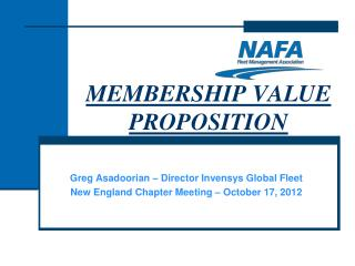 MEMBERSHIP VALUE PROPOSITION