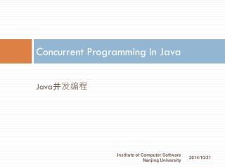 Concurrent Programming in Java