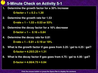 5-Minute Check on Activity 5-1