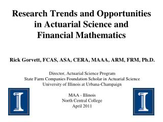 Research Trends and Opportunities in Actuarial Science and Financial Mathematics