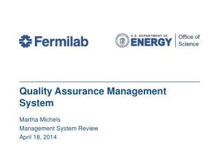 Quality Assurance Management System