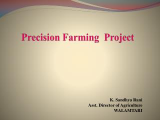 Precision Farming  Project