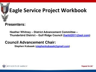 Eagle Service Project Workbook