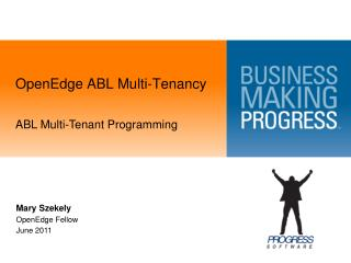 OpenEdge  ABL Multi-Tenancy