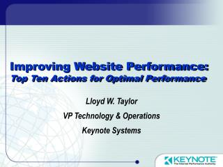 Improving Website Performance: Top Ten Actions for Optimal Performance