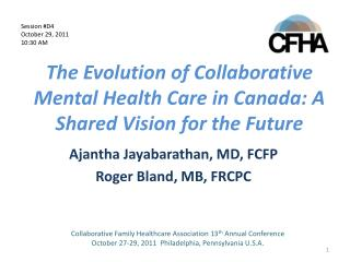 The Evolution of Collaborative Mental Health Care in Canada: A Shared Vision for the Future