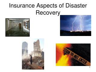 Insurance Aspects of Disaster Recovery