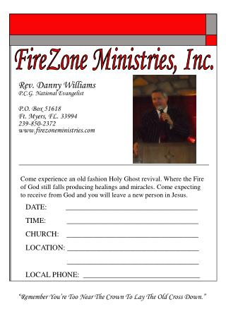 FireZone Ministries, Inc.