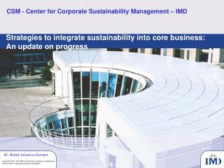 CSM - Center for Corporate Sustainability Management – IMD