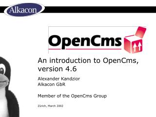 An introduction to OpenCms, version 4.6