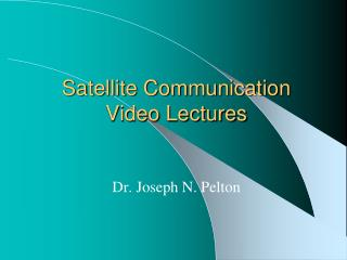Satellite Communication Video Lectures