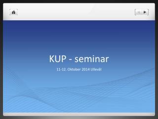 KUP - seminar