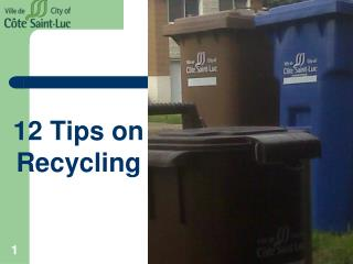 12 Tips on Recycling