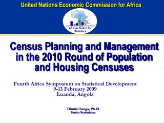 Census Planning and Management in the 2010 Round of Population and Housing Censuses