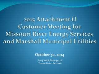 Revenue Requirements, Cost of Service and Rate Adjustments for the Electric Utility