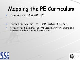Mapping the PE Curriculum