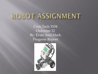 Robot Assignment