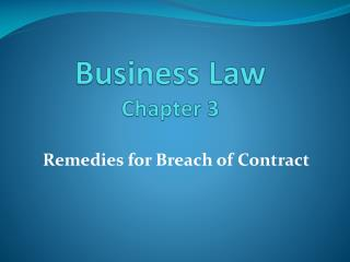 Business Law Chapter 3