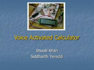 Voice Activated Calculator
