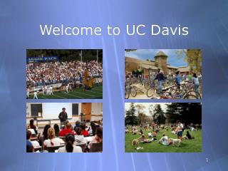 Welcome to UC Davis
